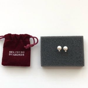Helzberg diamonds pearl post earrings